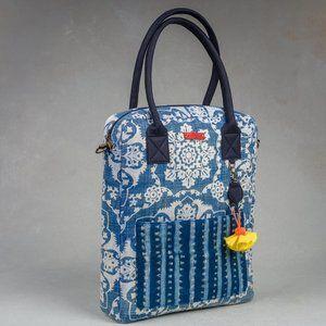 Vertical Indigo Laptop Bag
